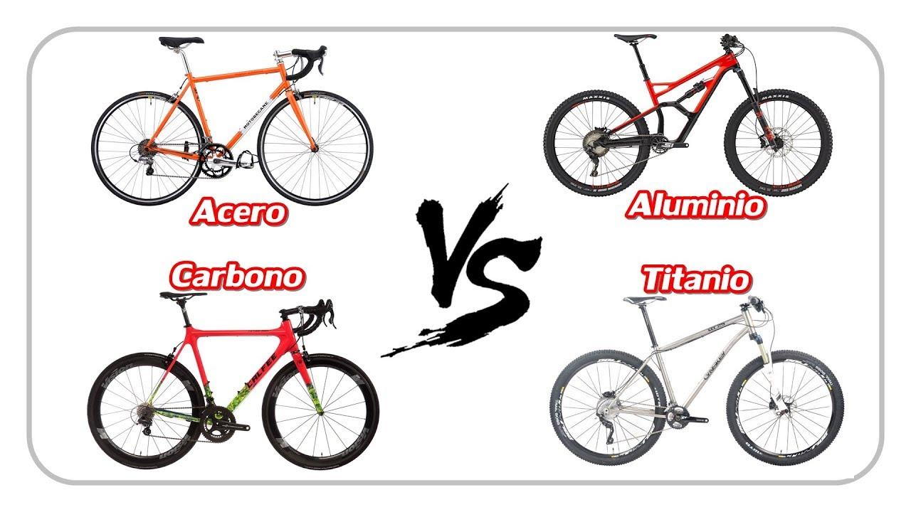 CARBONO, TITANIO, ALUMINIO o ACERO - Material para bicis - YouTube