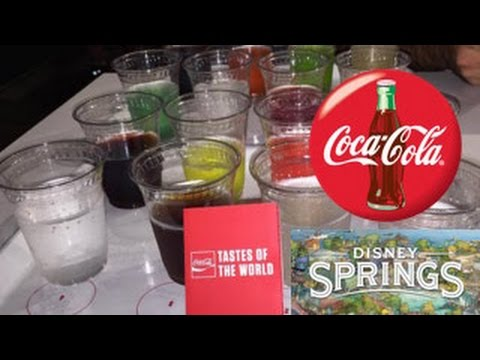New Coca-Cola Store at Disney Springs Taste The World taste test!