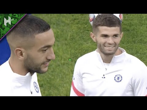 Ziyech and Pulisic all smiles as Chelsea train in Russia | Krasnodar v Chelsea | training session