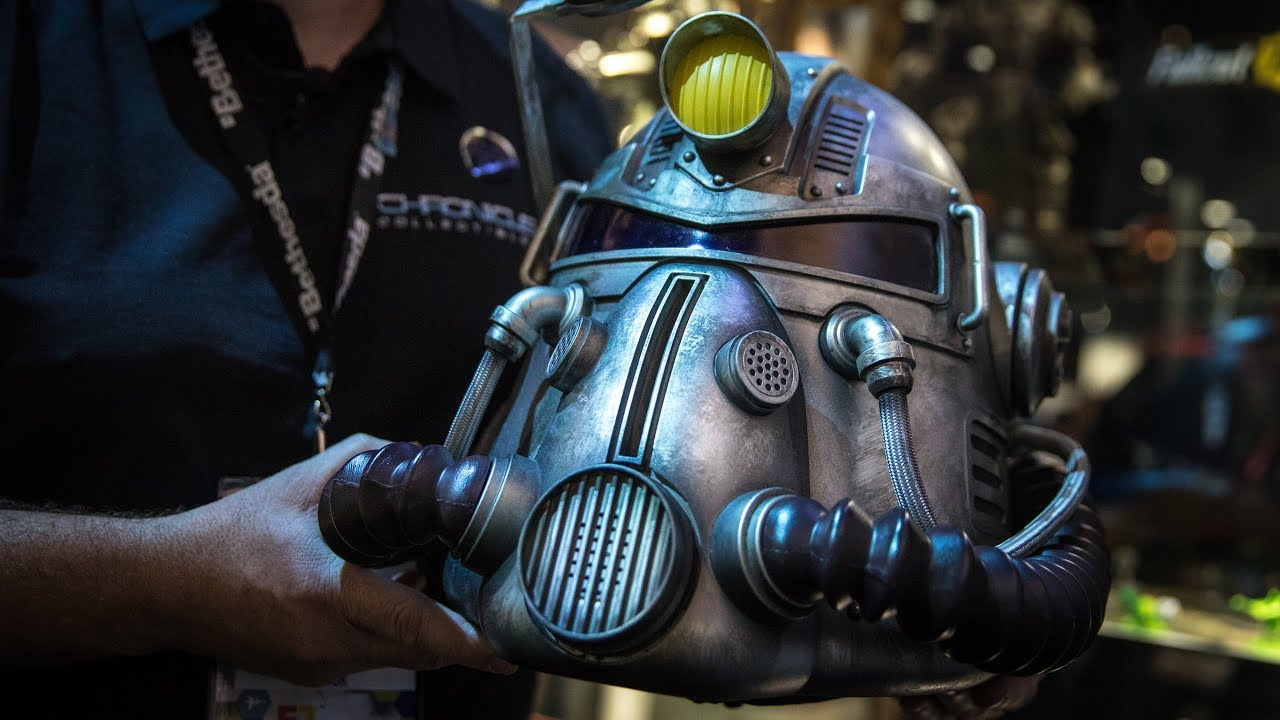 Fallout 76 Power Armor Edition T 51 Helmet Youtube