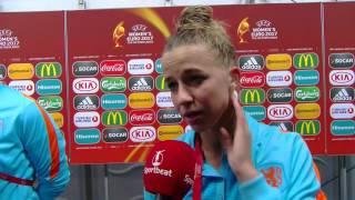 Oranje Leeuwin Jackie Groenen na afloop tegen Noorwegen