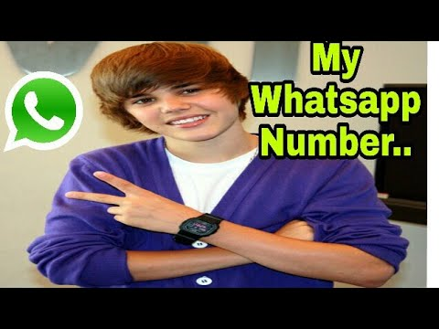 Justin Bieber Whatsapp/ Contact Number...