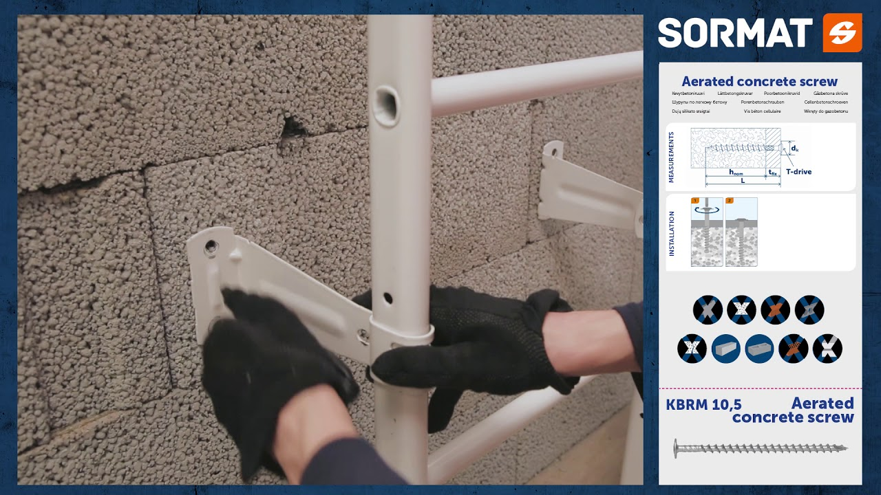 Sormat KBRM 10 5 - Aerated concrete screw for heavy loads