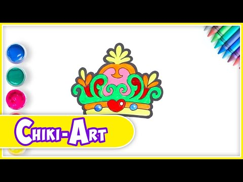 How To Draw Crown | Learning Drawing And Coloring For Kids | Kiddley Doo Art