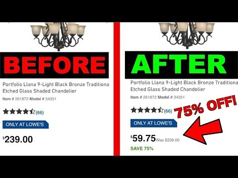 How To Save Money At Lowes With Dynamic Pricing - Lowes EBay Dropshipping Supplier Trick