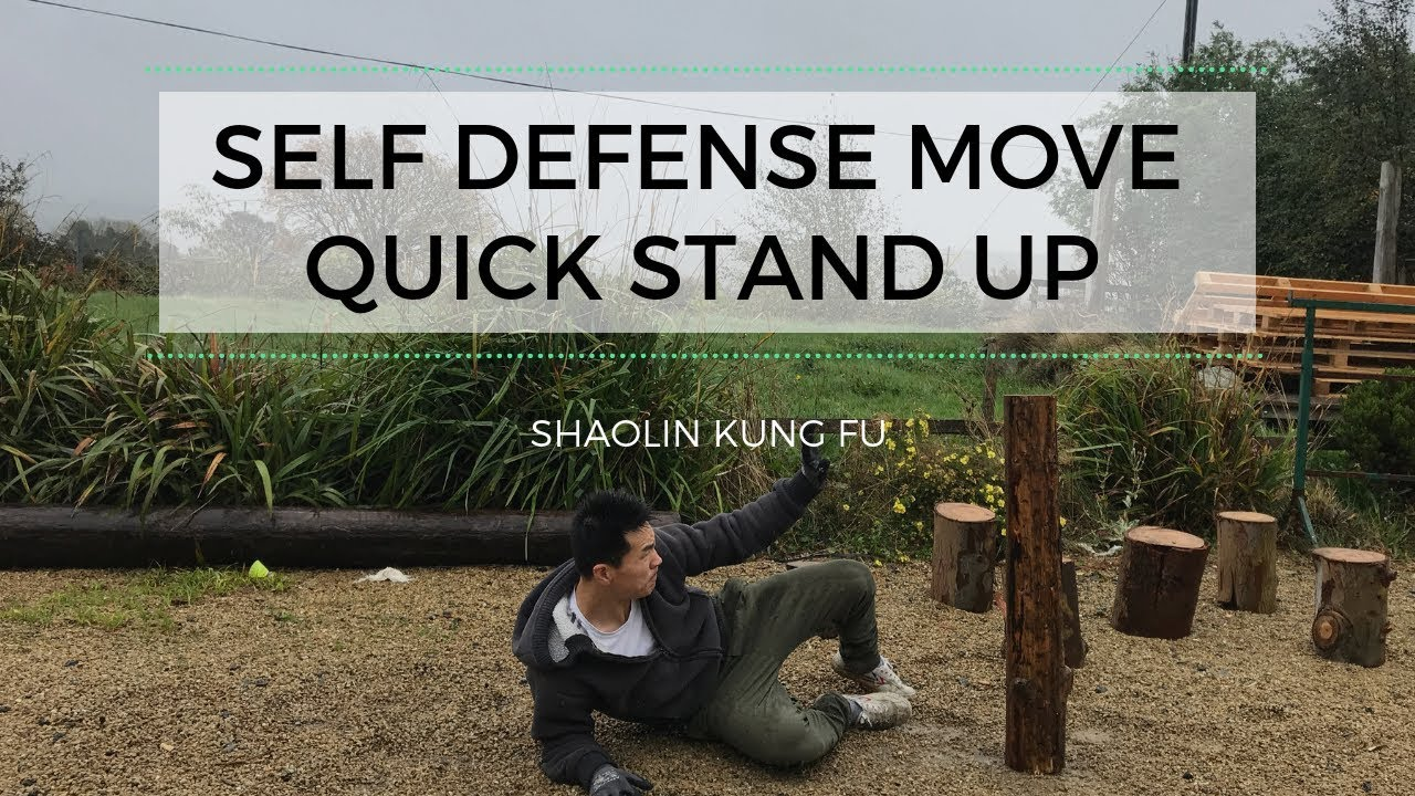 Self defense moves /Quick Stand Up from the Ground   Shaolin Kung Fu