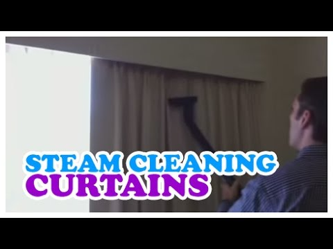 Steam Cleaning Curtains