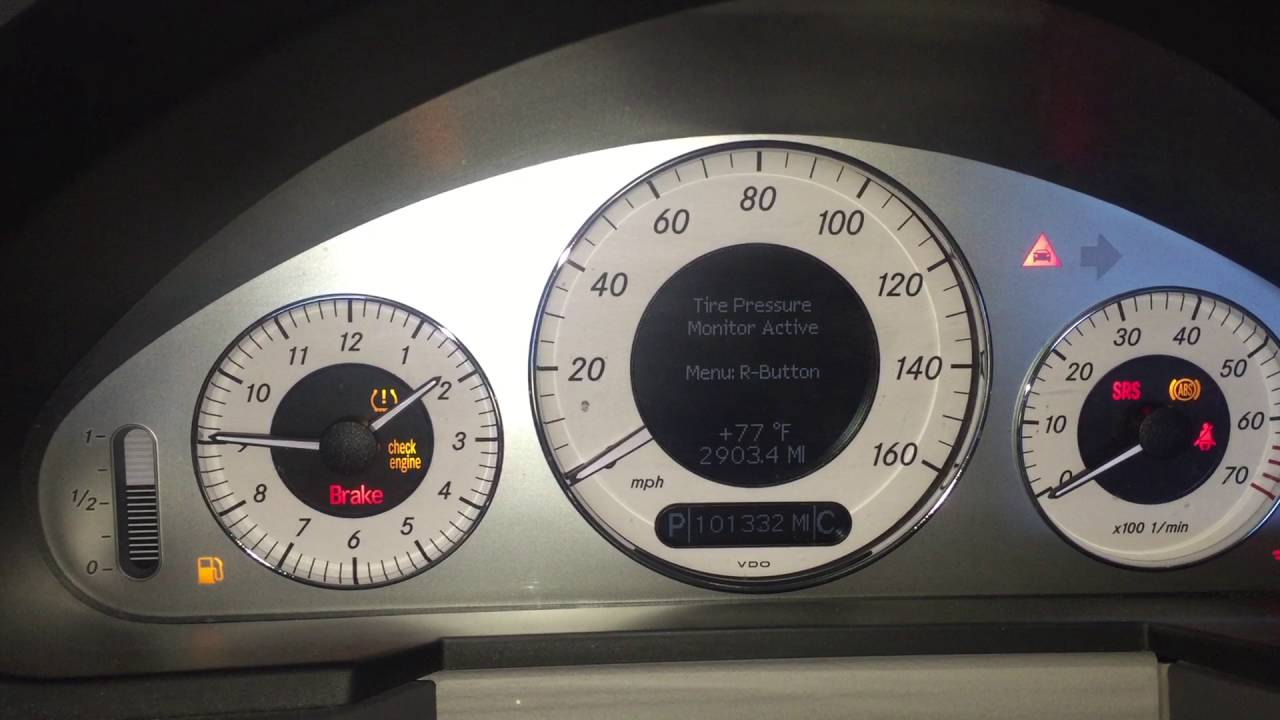 2006 Mercedes E350 Check Engine Light Reset