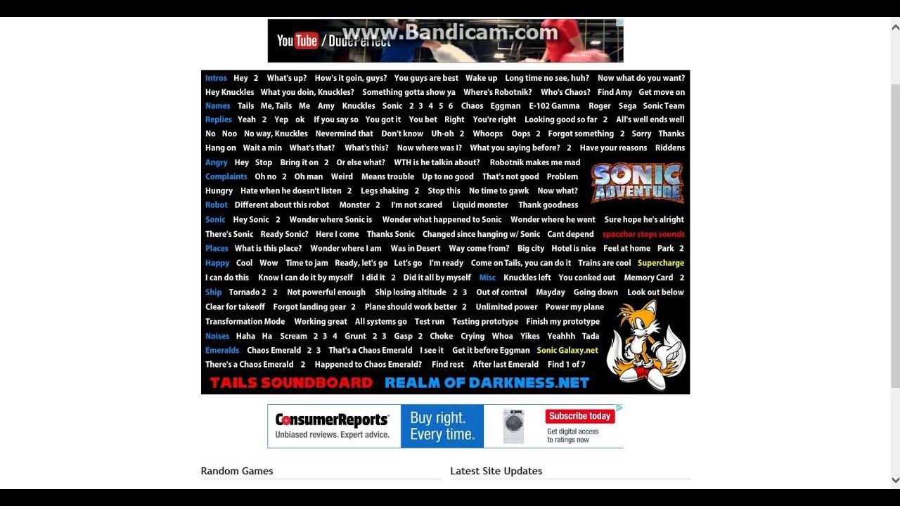 tails soundboard sonic adventure youtube
