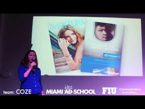 FIU & Miami Ad School Students Pitch for Air Europa - COZE