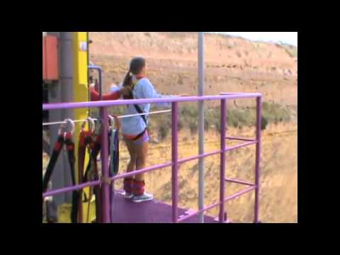 Crazy Girl Bungee Jumps!
