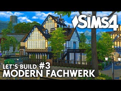Modern Fachwerk Haus bauen in Die Sims 4 | Let's Build #3 (deutsch)