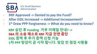 6-12-2021 SBA - 소송 패소로 RRF 펀드 …