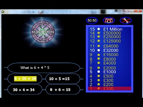 Game maker tutorial who wants to be a millionaire youtube for Game maker templates download