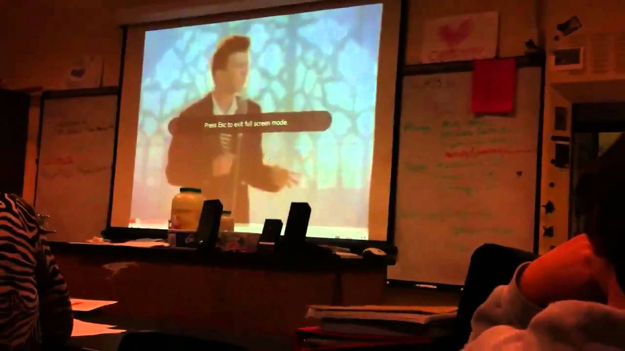 rick rolled thesis Rickrolling, alternatively rick-rolling, is a prank and an internet meme involving an unexpected appearance of the music video for the 1987 rick astley song never gonna give you up.