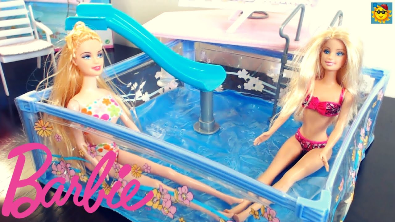 Juegos de barbie la barbie en la piscina youtube for En la piscina