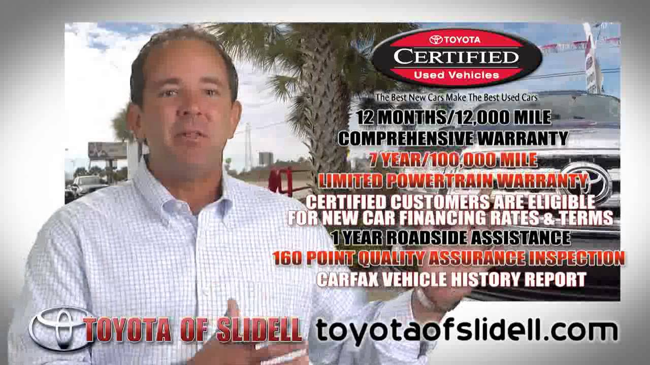 Toyota Of Slidell Toyota Certified Used Vehicles May 2015