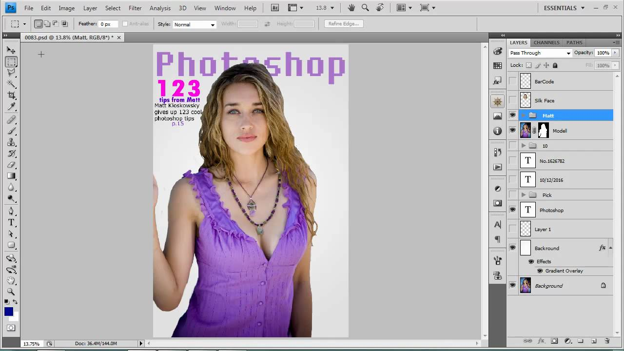 Making A Magazine Cover in Photoshop - YouTube