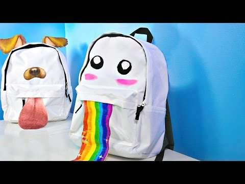 Thumbnail: DIY Snapchat Filter Backpacks For Back To School!
