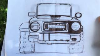 2020 Ford Bronco Concept Rendering and other sketches
