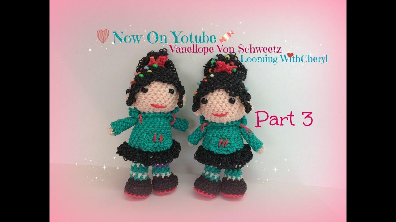 Amigurumi Monster Crochet Patterns : Rainbow Loom Vanellope Von Schweetz Part 3 of 3 ...