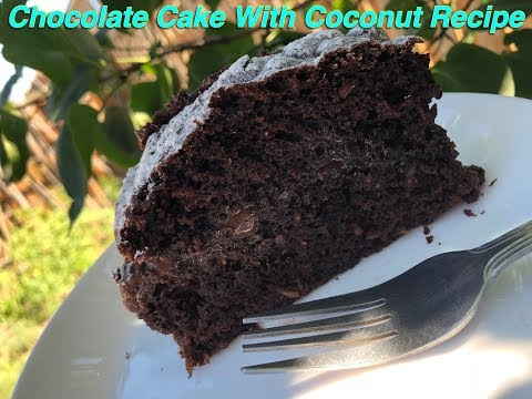Chocolate Cake With Coconut Using Boxed Cake Mix~ Super Moist And Easy To Make~