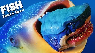 GIANT WHALE SHARK EATS NEW GIANT MEGALODON!? | Feed And Grow Fish Gameplay Mp3