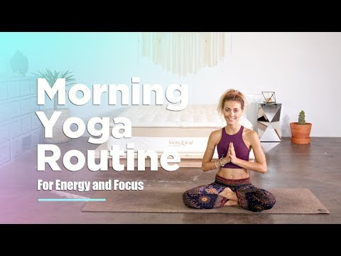 Morning Yoga Routine For Energy and Focus | YogiApproved.com