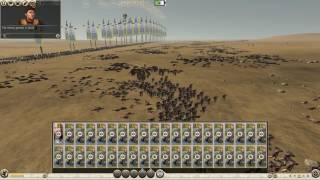 Total War Rome 2 - LOTR Gondor Unit pack - Rangers Test - 3000 vs 6000 unit