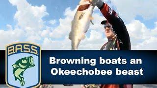 Stephen Browning boats an Okeechobee beast