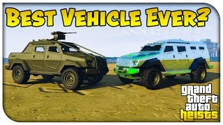 GTA 5 Heist Online - HVY INSURGENT vs INSURGENT PICK-UP! (Best Vehicle Ever Added!) [GTA V Heists]