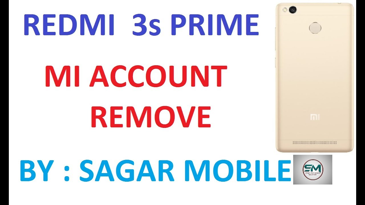 Mi redmi3s prime mi account remove 100000%%