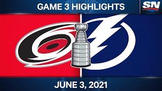 NHL Game Highlights   Hurricanes Vs. Lightning, Game 3 - June 3, 2021