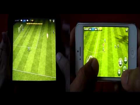 FIFA 13 GRAPHICS COMPARISON ON IPAD MINI AND IPHONE 5