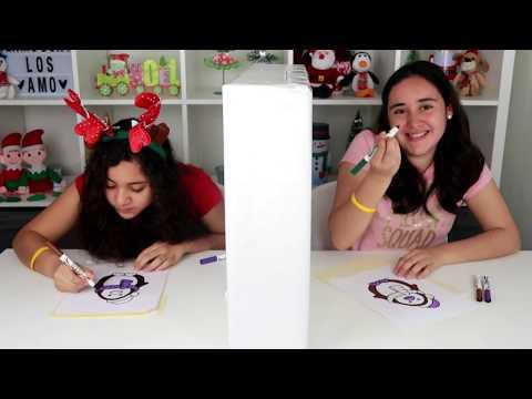 3 Marker Challenge por TELEPATÍA de NAVIDAD | Retos con momentos divertidos