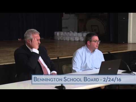 Bennington School District Board - 2/24/16