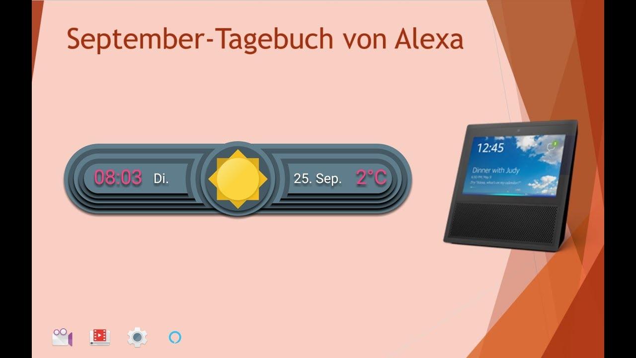 Alexa Tagebuch Vom 23 Bis 25 September