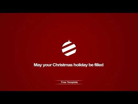 Adobe After Effects - Merry Christmas |FREE TEMPLATE| - YouTube