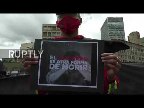 Colombia: Rappi delivery workers protest over working conditions in Bogota