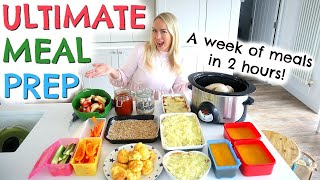 A WEEK OF MEALS IN 2 HOURS  |  ULTIMATE MEAL PREP  |  EMILY NORRIS