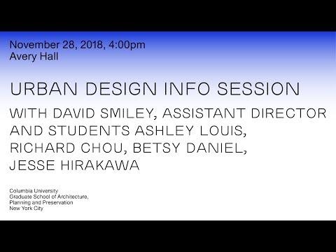 Columbia GSAPP Urban Design Info Session