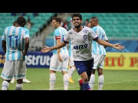 Bahia 2 X 1 Avái. Gols de Zé Roberto (2) e Vinicius Pacheco (14/5/2016)