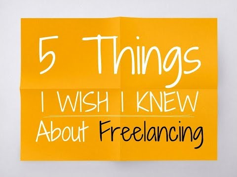 Web Design Freelancing: 5 Things I Wish I Knew