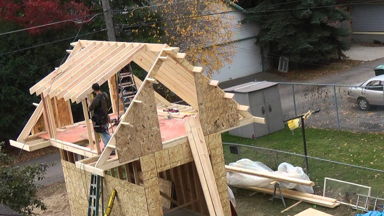 Building a shed youtube for Building a shed style roof