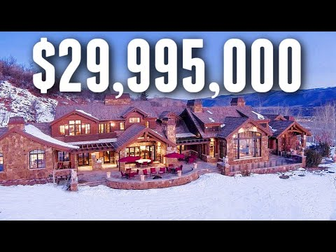 Download Touring a $29,995,000 Colorado Mountainside MEGA MANSION