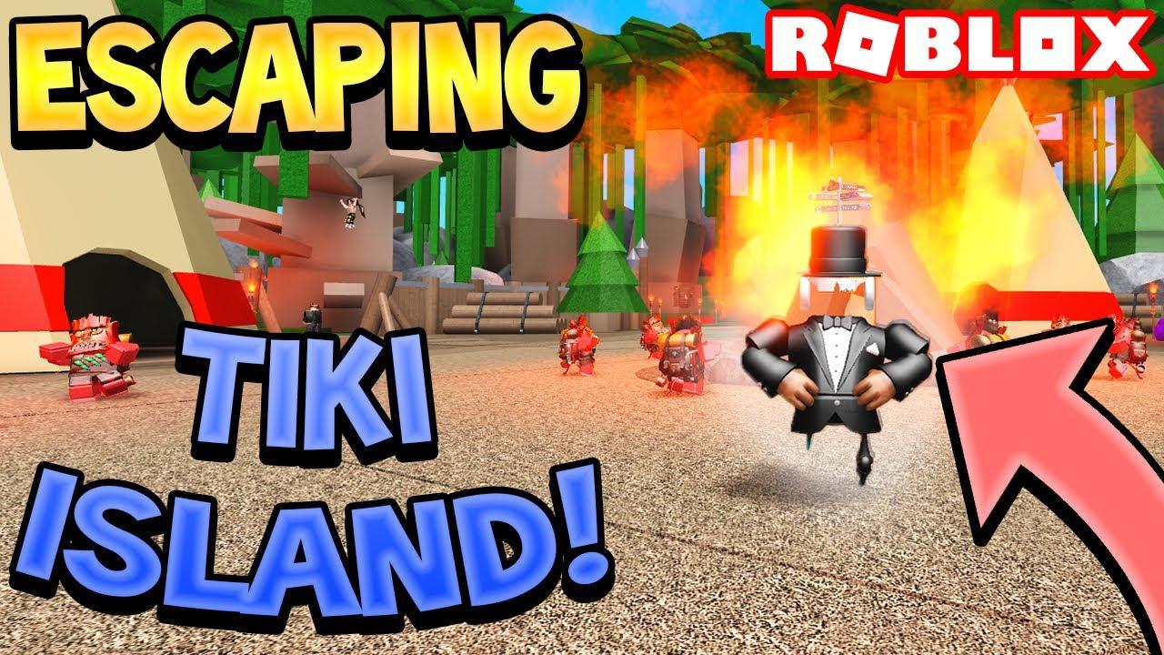 Escaping Tiki Island Roblox Youtube