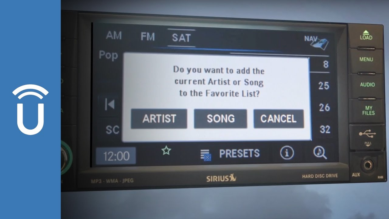 Save Your SiriusXM® Satellite Radio Favorites | Uconnect® 430 and 430N  Systems
