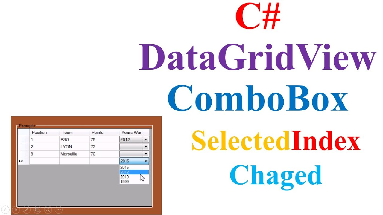 C# DataGridView - Capture Selected IndexChanged In ComboBox Column