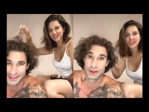 Sunny Leone Cute Video Doing Head Massage To Her Husband