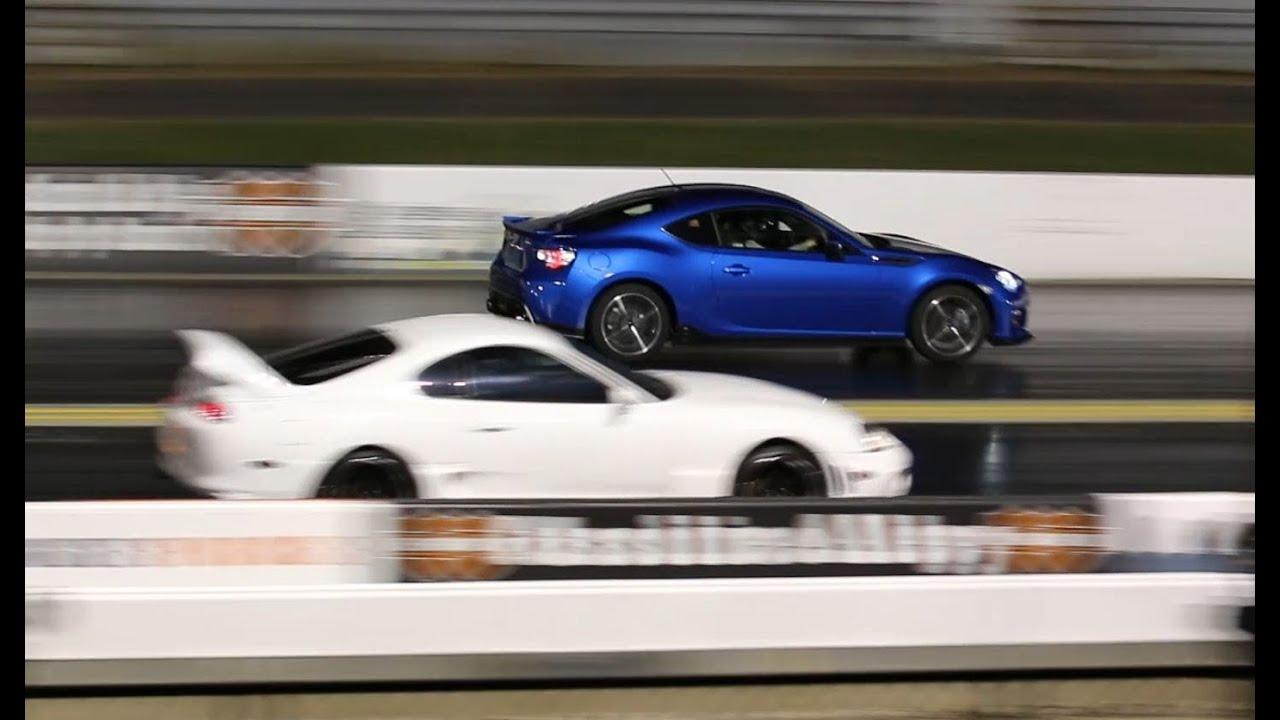 Subaru Brz Drag Racing 1 4 Mile 16 1 Vs Toyota Supra Youtube